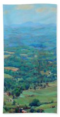A Slow Summer's Day- View From Roanoke Mountain Beach Towel