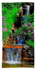 A Small Waterfall In Hbg Sweden Beach Towel