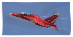 A Special Painted Yak-130 Performing Beach Towel by Daniele Faccioli
