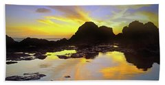 Beach Towel featuring the photograph A Splatter Paint Sunset by Tara Turner