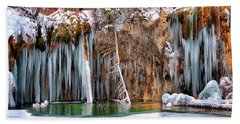 A Spring That Knows No Summer. - Hanging Lake Print Beach Sheet