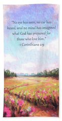 A Spring To Remember With Bible Verse Beach Towel