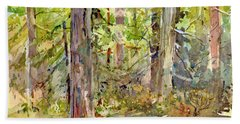A Stand Of Trees Beach Towel