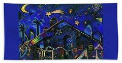 a star in Bethlehem Beach Towel