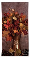 A Still Life For Autumn Beach Towel by Sherry Hallemeier