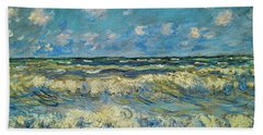 A Stormy Sea Beach Towel
