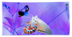 A Strange Butterfly Dream Beach Towel by Kim Pate