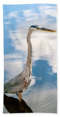Beach Towel featuring the photograph A Stroll Among The Clouds by Christopher Holmes