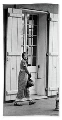 Beach Towel featuring the photograph A Stroll In The French Quarter by KG Thienemann