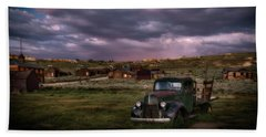 Beach Towel featuring the photograph A Summer Evening In Bodie by Cat Connor