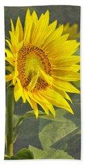 A Sunflower's Prayer Beach Sheet