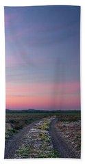 Beach Towel featuring the photograph A Sunrise Path by Leland D Howard