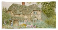 Thatched Roof Paintings Beach Towels