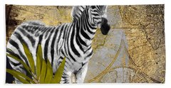 A Taste Of Africa Zebra Beach Towel by Mindy Sommers