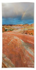 A The End Of The Rainbow Beach Towel