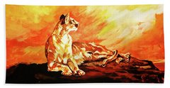 A Time To Relax Beach Towel
