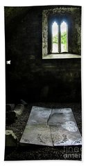 Beach Sheet featuring the photograph A Tombstone In Sligo Abbey by RicardMN Photography