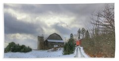 A Touch Of Snow Beach Towel by Sharon Batdorf