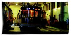 A Tram I Am Beach Towel by Steve Taylor