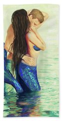 Beach Towel featuring the painting A Treasured Love by Leslie Allen