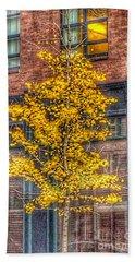 A Tree Grows In Boston Beach Towel by Patricia E Sundik