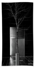 A Tree Grows In The City - Bw Beach Sheet by James Aiken