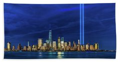 Beach Towel featuring the photograph A Tribute At Dusk by Chris Lord