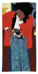 A Tribute To Jean-michel Basquiat Beach Towel