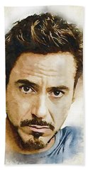 A Tribute To Robert Downey Jr. Beach Towel