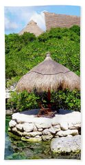 Beach Towel featuring the photograph A Tropical Place To Relax by Francesca Mackenney