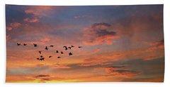A V Takes Shape At Sunrise Beach Sheet by Kathy M Krause