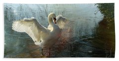 A Very Fine Swan Indeed Beach Towel by LemonArt Photography