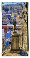 Beach Towel featuring the photograph A View From College Hill by DJ Florek