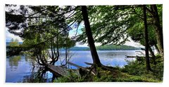 Beach Towel featuring the photograph A View From Covewood by David Patterson