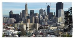 Beach Towel featuring the photograph A View Of Downtown From Nob Hill by Steven Spak