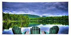 Beach Towel featuring the photograph A View Of Serenity by David Patterson