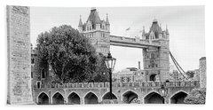 A View Of Tower Bridge Beach Sheet