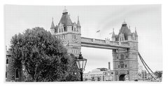 A View Of Tower Bridge Beach Towel