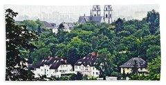 A View Of Wiesbaden Beach Towel by Sarah Loft