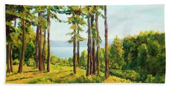 A View To The Lake Beach Towel