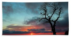 A Virginia Kind Of Sunrise Beach Towel by Darren Fisher