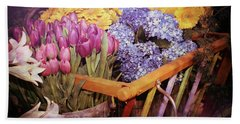A Wagon Full Of Spring Beach Towel by Patrice Zinck