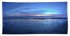 A Walk At Sunset Beach Towel