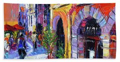 A Walk In The Lyon Old Town Beach Towel