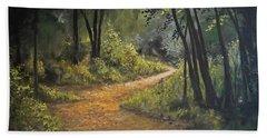 A Walk In The Woods Beach Towel by Alan Lakin