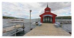 A Walk To Seneca Lake Beach Towel by Trina Ansel