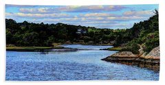 Beach Towel featuring the photograph A Water View Newport Ri by Tom Prendergast