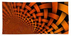 A Weaved And Wavy Abstract Beach Towel