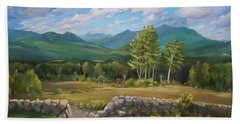 Beach Towel featuring the painting A  White Mountain View by Nancy Griswold