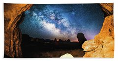A Window To The Universe Beach Towel by Robert Loe